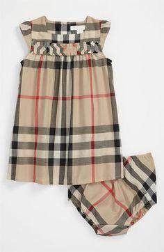 Burberry Check Print Dress (Infant) available at  Nordstrom Mãe De Menina 0d87675d644