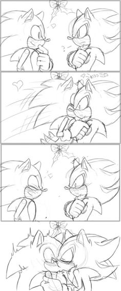 Inspired by liin king at the moment when simba and nala are togheter, with the song, but instead if forcing sonic in the water like simba did to nala shad want to help him to swim ^^