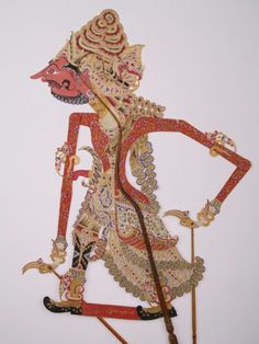 Name : Bathara ( God ) Brahma, The God of Fire.  Brahma is mean Fire. He is the second son of Bathara ( God ) Guru with Bathari ( Goodies ) Umayi. He lives in Heaven Arga Dahana or Arga Deksina. He have three wifes, there are Goddies Saci, Goddies Sarasyati and Goddies Saraswati. He have 21 sons and daughters. In Died of Kangsa's stroy, he give two holy fire weapons to Prince Kakrasana, the weapons' name is Nenggala and Alugara. #Indonesia #Puppet #Puppets #Javanese #shadowpuppets #Wayang… Javanese, Shadow Play, Shadow Puppets, Semarang, Ancient History, Traditional Art, Art Forms, Two By Two, Painting
