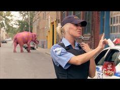Agente acabo de ver un Elefante rosa con lunares amarillos