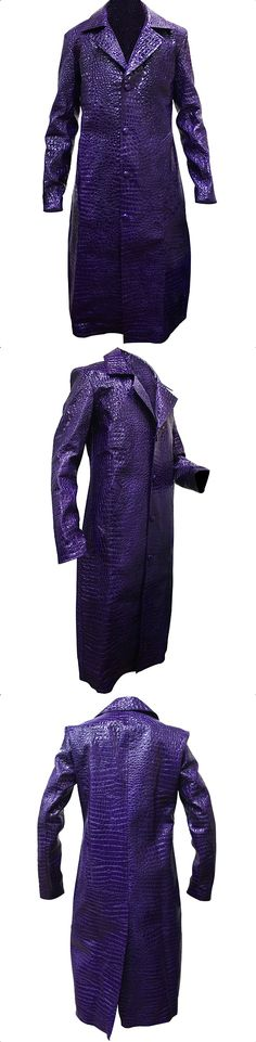 """Get the close look of your favorite Joker costume. Place your Order Now and buy Jared Leto Joker Long Coat carry in the super hit movie """"Suicide Squad"""" by Jared Leto as Joker. The Amazing Joker Coat is designed by Crocodile Pattern and for inner Comfort used Viscose Lining. Purchase in $99.99 with Least Shipment."""
