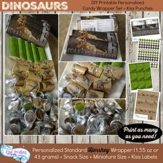 Dinosaur Party Favor  Dinosaur  Favors  by EpicpartiesbyREVO