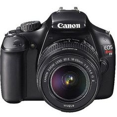 Canon EOS Rebel T3 Black 12.2MP DSLR Camera   I've been researching Canon and well I'm not going to lie I really like this one lol oh no!!! What's wrong with me I'm Nikon all the way but this Canon is pretty, very nice clearer picture than the Nikon D3000.
