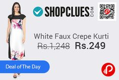 Shopclues #SuperSaverBazaar is offering 80% off on Faux Crepe Kuti Cap Sleeve Digital Print by Ziyaa at Rs.249 Only. Occasion Casual Prints & Patterns – Printed.   http://www.paisebachaoindia.com/faux-crepe-kuti-white-at-rs-249-only-shopclues/