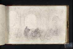 """Joseph Mallord William Turner, """"An Artist Munkahelyi a Vatikánban Loggia: Tanulmány"""" Rómában a Vatikán '' 1819"""