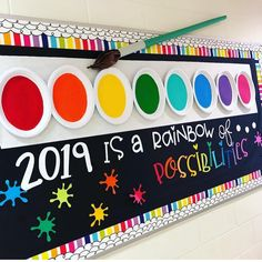 """Classroom Pinspirations on Instagram: """"This bulletin board is a rainbow of possibilities! Thanks for creating such a cute one, @katieplus4! 🌈 #classroompinspirations…"""""""