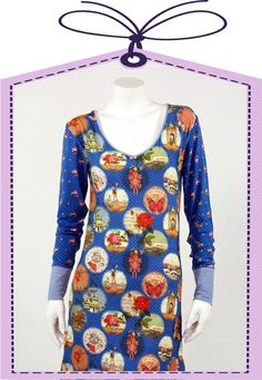 stylish nightdress in blue made by PIP Studio online available at www.pyjama-und-co.com