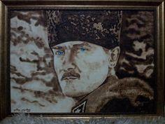 Mustafa Kemal ATATÜRK yakma resim 50*70