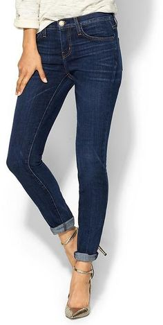 CURRENT/ELLIOTT The Rolled Skinny  //the cut of these jeans are perfect//