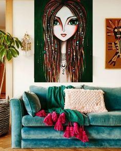 """""""Dreadlocks"""" se va a Estados Unidos🇺🇸. Otra  Obra que encuentra su lugar.. tan lejos, tan cerca.. donde estan ellas, estoy yo... 💛🇦🇷🙏🍀 #EEUU  #soyRomiLerda #romiledart #Argentina #italia #españa #colombia #mexico #miami #brasil #chile #uruguay #arte #art #galeriadearte #galleryart #love #occhi #eyes #ojos #woman #donna #obrasdearte #arteargentina #canvas #artstudio #artwork #painting Watercolor Painting Techniques, Acrylic Painting Canvas, Canvas Art, Pop Art Face, Modern Drawing, Rock Painting Designs, Arte Pop, Weird Art, Pop Art Girl"""