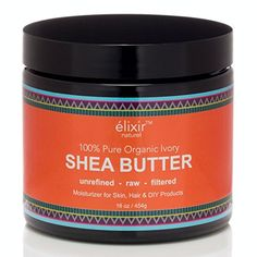 Elixir Naturel Best Organic Ivory African Shea Butter - Natural Pure Grade A Unrefined Raw - Great Moisturizer for Skin and Hair - Excellent for DIY Products - Large 16 oz. Jar * More info could be found at the image url. Best Face Products, Pure Products, Diy Products, Amazon Products, Butter Extract, Unrefined Shea Butter, Body Lotions, Luxury Beauty, Body Butter