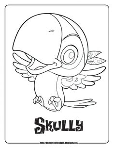 Jake And The Neverland Pirates Coloring Pages Scully