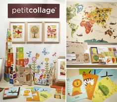 Petit Collage on display at the Sidney Gifts Fair in 2013, with Australian distributor Tiger Tribe.
