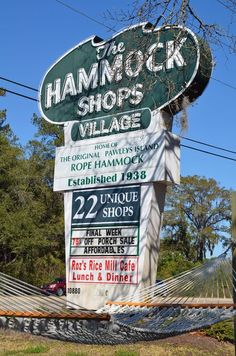 The Hammock Shops Village sign (Pawley's Island, South Carolina)