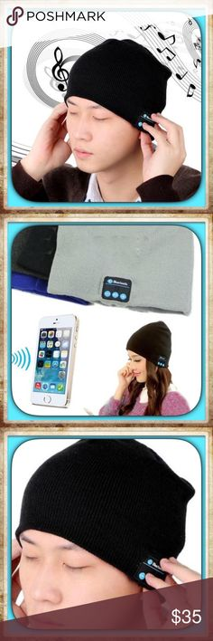 Men's Black Beanie Bluetooth Hat Soft Warm Beanie Hat Wireless Bluetooth Smart Cap Headphone Headset Speaker Mic  100% brand new and high quality!Knitted material, fashion and keep warm while you answer the phone in the winter.Set-in Li-ion chargeable battery, charge via USB Cable, has a long stand-by time. I'm offering 10% off bundles of two or more and a free gift   PRICE IS FIRM UNLESS BUNDLED  Keywords : Bluetooth, beanie, hat, cap, music, hands free, black, guy, men, man…