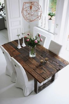 Pictures Of Dining Room Table Centerpieces - Pictures Of Dining Room Table Centerpieces , 50 Beautiful Christmas Dining Room Decor Ideas Should You Dining Room Table Centerpieces, Dining Room Table Decor, Dining Table Design, Table Arrangements, Dining Tables, Dining Area, Esstisch Design, Rustic Table, Farmhouse Table