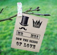 mr and mrs seed packet favour by wildflower favours | notonthehighstreet.com
