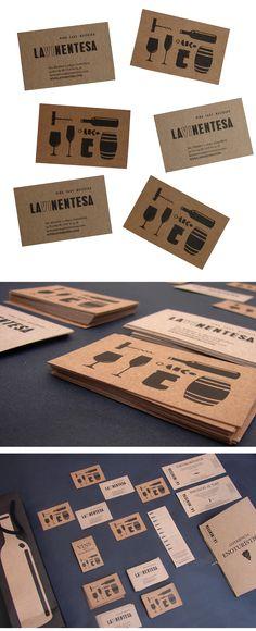 Lavinentesa, cards, branding, identity, identidad corporativa, targetas, vino, wine, wine shop