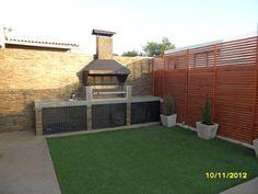 backyard design – Gardening Tips Backyard Patio Designs, Backyard Landscaping, Diy Outdoor Kitchen, Outdoor Decor, Outdoor Barbeque, Backyard Creations, Brick Bbq, Exterior Design, Outdoor Living