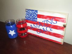 This is for a paring of patriotic painted by RusticXpressions