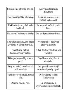 Školní hrátky: Roční období, 36 obrázkových karet Elementary Science, My Job, Teaching English, Free Printables, Homeschool, Ads, Education, Teaching Ideas, Crafts