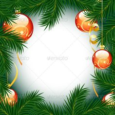 Christmas Frame — Vector EPS #illuminated #tree • Available here → https://graphicriver.net/item/christmas-frame/589883?ref=pxcr