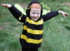 Homemade halloween costume! My son's really into bees lately and I don't want to spend money on a costume. This website gives good instructions on how to make it!