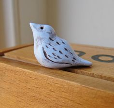 Handmade Bird Bead (1), Little Blue Bird Bead, Polymer Clay Bird Bead, bird bead