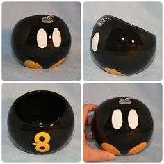 Bob-omb Ceramic Tilted Bowl by skotkincreations