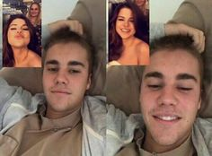 Video call with Selena And Justin B
