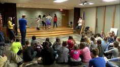 Some local eighth graders got a lesson in acting Thursday. The Murder Mystery Company hosted a workshop at the Creative Arts Academy.