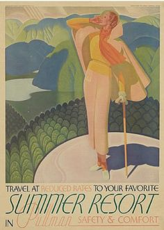 Poster by William P Welsh (1889), 1935, William P. Welsh (American, 1889-1984) Summer Resort - 1935