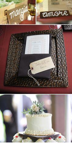 Table decor tuscan wedding