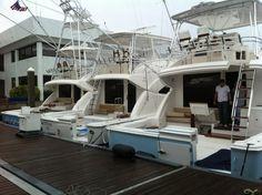 Bertram Yachts shot at an October 2011 boat show #luxury #yacht #sportfishing
