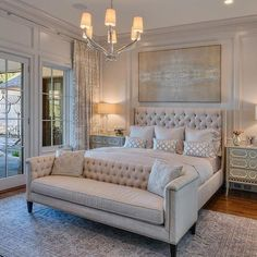 50 awesome master luxurious bedrooms idea on a budget 33 - Home Decor Interior Master Bedroom Design, Dream Bedroom, Home Decor Bedroom, Romantic Master Bedroom Ideas, Bedroom Designs, Luxury Master Bedroom, Bedroom With Couch, Modern Bedroom, Neutral Bedrooms