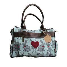 Cotton Road Handbag with Rabbit Print
