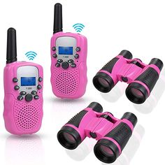 Anpro walkie talkies and Telescope Sets for Kids, 22 Channel 2 Way Radio 3 Mile Long Range Handheld Top Toys For Boys, Radios, Jungle Theme Birthday, Frozen Toys, Baby Doll Nursery, Kids Makeup, Diy Baby Gifts, Birthday Gifts For Boys, Homemade Toys