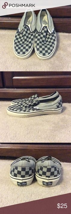 ✅Avail. Until Jan. 14th! VANS Classics VANS Off-The-Wall Black and Grey checkered Classics. Great for those casual days when you want to dress down a bit. Lightly used. Vans Shoes Sneakers
