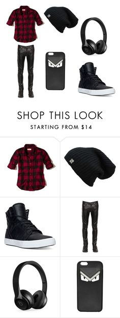 """Untitled #6"" by katie81330 on Polyvore featuring Hollister Co., Supra, April 77, Beats by Dr. Dre, Fendi, men's fashion and menswear"