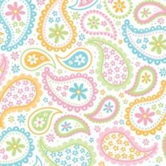 Easter Pastel Paisley Pattern