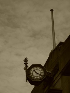 "Singapore Railway Station... Flagstaff and "" Thrupenny Bit "" Station Clock"