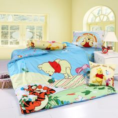 pooh and tigger skyblue disney bedding sets