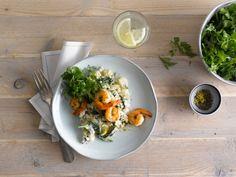 Heerlijke scampi risotto gemaakt met Alpro Cuisine; ja graag!