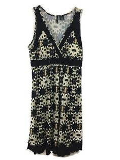 Womens Size L Large NEW DIRECTIONS Sleeveless Stretch Dress Black LaLangston EUC #NewDirections #Casual