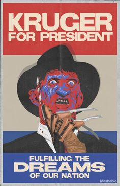 If we're being technical here, a horror villain IS running for president this year. His name is Donald Trump, and he's far less lovable than the likes of Freddy, Jason, Leatherface, and Michael Myers. Sure, our favorite horror icons may be evil monsters who love to kill, but there's something about President Krueger that justRead More