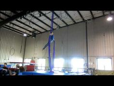 Aerial Silks Practice: Spins and Things - YouTube  Found how to get into that knee hang at 0:36