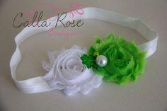 St Patrick's Day Shabby Chic Rosette Headband by CallaRoseBoutique, $10.00