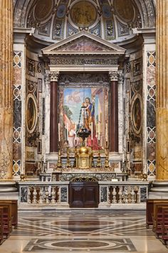 One of the side alters at St. Peter's Basilica, Vatican City