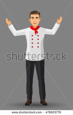 Chef illustration on standing position. design template elements for your brochure, banner and web.
