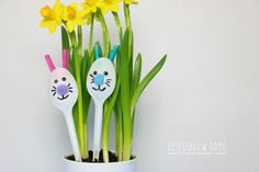 zajaczek i kurczak - dekoracja diy Easter Crafts For Kids, Measuring Spoons, Diy, Easter Crafts For Toddlers, Bricolage, Do It Yourself, Homemade, Diys, Crafting